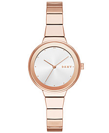 DKNY Women's Astoria Rose Gold-Tone Bracelet Watch 32mm, Created for Macy's