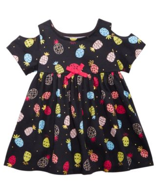 Baby Girls Dot-Print Cold-Shoulder Cotton Tunic, Created for Macy's