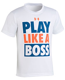 Under Armour Boss-Print T-Shirt, Little Boys