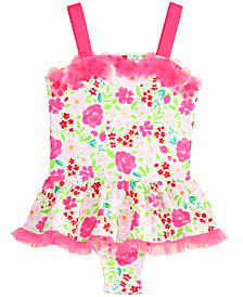 Penelope Mack 1-Pc. Floral-Print Skirted Swimsuit, Toddler Girls