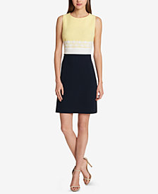 Tommy Hilfiger Sleeveless Colorblocked Sheath Dress