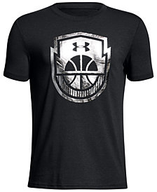 Under Armour Basketball-Print T-Shirt, Big Boys