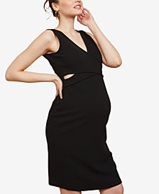 Motherhood Maternity V-Neck Sheath Dress