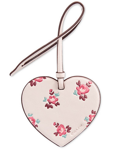 COACH Boxed Printed Heart Ornament