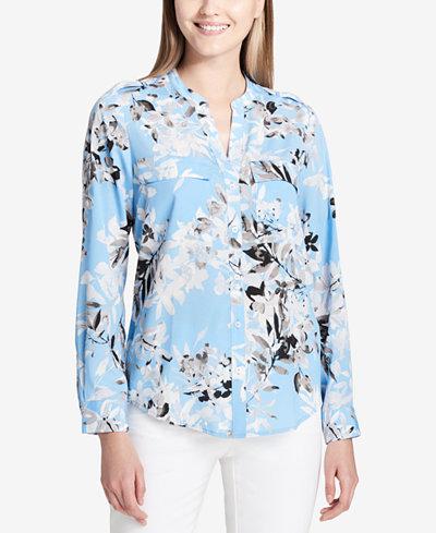 Calvin Klein Floral-Print Shirt