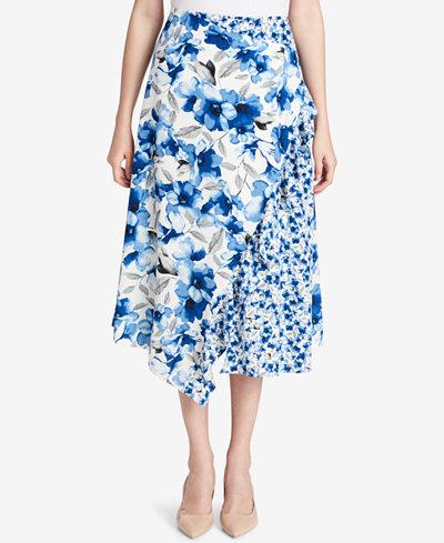Calvin Klein Printed Midi Skirt