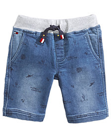 Tommy Hilfiger Schiffli Denim Shorts, Little Boys