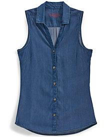 EMS® Women's Solid Chambray Sleeveless Shirt
