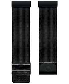 Versa™ Black Stainless Steel Mesh Accessory Band