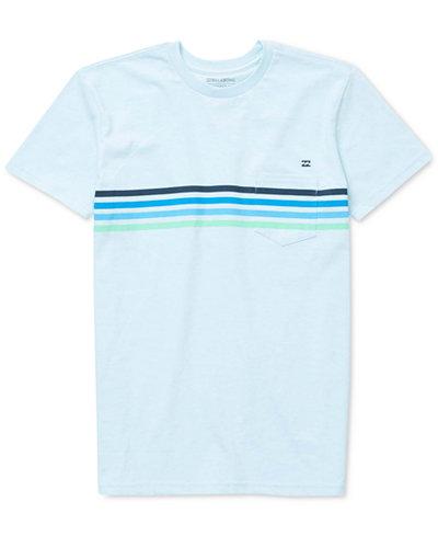 Billabong Striped Cotton T-Shirt, Big Boys