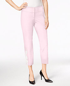 Alfani Appliqué Ankle Pants, Created for Macy's