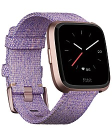 Fitbit Versa™ Special Edition Lavender Woven Band Smart Watch 39mm