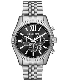 Michael Kors Men's Chronograph Lexington Stainless Steel Bracelet Watch 44mm