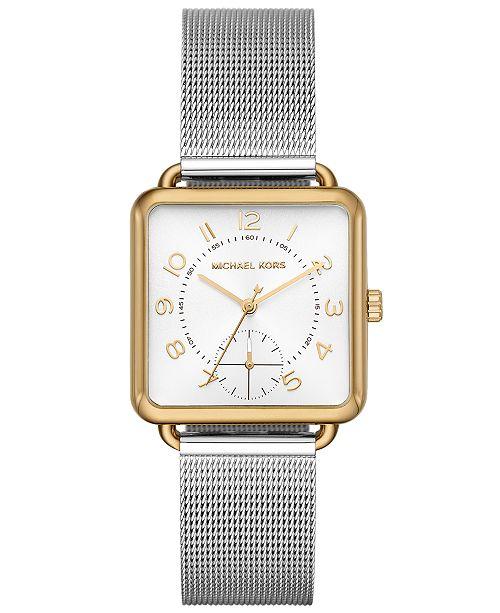 7977151e9be4 ... Michael Kors Women s Brenner Stainless Steel Mesh Bracelet Watch  31x31mm ...
