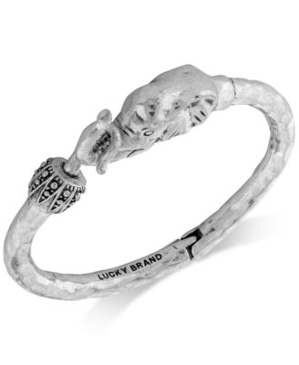 Bracelet, Silver-Tone Elephant Cuff Bracelet