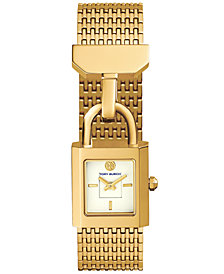 Tory Burch Women's Surrey Gold-Tone Stainless Steel Bracelet Watch 21x20mm