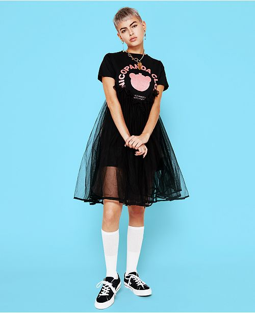 biggest selection new season authentic NICOPANDA Tulle T-Shirt Dress, Created for Macy's & Reviews ...