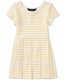 Polo Ralph Lauren Striped Fit & Flare Dress, Toddler Girls