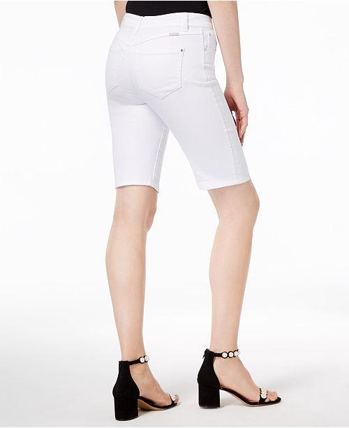 Curvy International INC Rhinestone Shorts Fit Bermuda C N White I Created Rivet Concepts Macy's for Denim XFnrFd