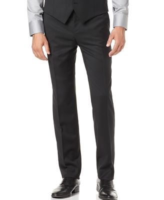 Alfani Solid Black Slim-Fit Pants - Pants - Men - Macy's