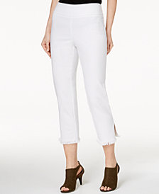 Style & Co Frayed Comfort-Waist Capri Pants, Created for Macy's