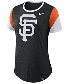 Nike Women's San Francisco Giants Tri-Blend Crew T-Shirt