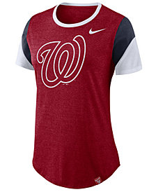 Nike Women's Washington Nationals Tri-Blend Crew T-Shirt