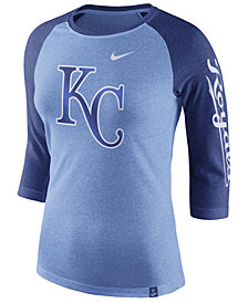 Nike Women's Kansas City Royals Tri-Blend Raglan T-Shirt