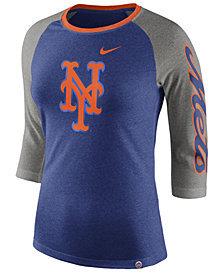 Nike Women's New York Mets Tri-Blend Raglan T-Shirt