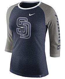 Nike Women's San Diego Padres Tri-Blend Raglan T-Shirt