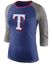 Nike Women's Texas Rangers Tri-Blend Raglan T-Shirt