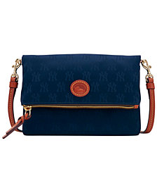 Dooney & Bourke New York Yankees Embossed Nylon Foldover Crossbody
