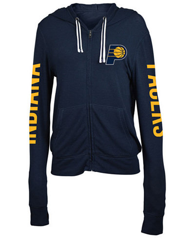 5th & Ocean Women's Indiana Pacers Sweater Knit Full-Zip Hoodie