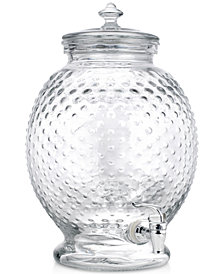 Home Essentials Hobnail Design 2.65-Gallon Glass Beverage Dispenser