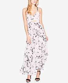 RACHEL Rachel Roy Printed Cutout Maxi Dress