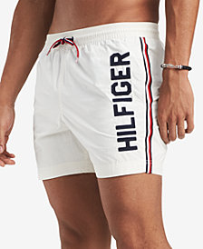 "Tommy Hilfiger Men's Blue Water 5"" Swim Trunks, Created for Macy's"