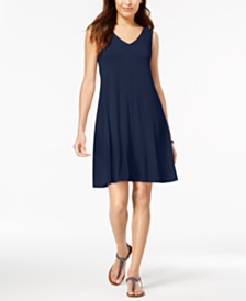 Style & Co Petite Cross-Back Swing Dress, Created for Macy's
