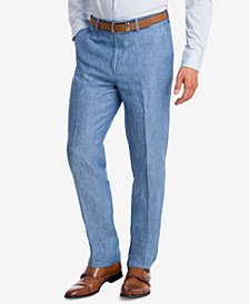 CLOSEOUT! Bar III Men's Slim-Fit Blue Chambray Suit Pants, Created for Macy's