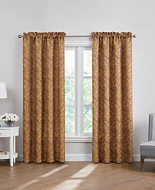 Hudson Hill Paisley-Print Rod Pocket Window Panels