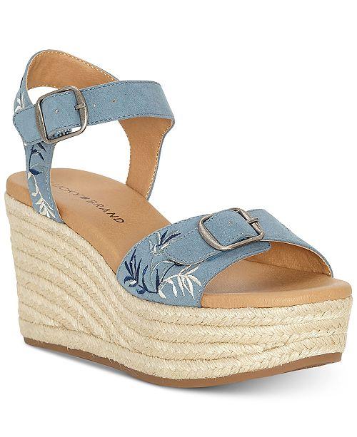 15580f20b95 Lucky Brand Women s Naveah 2 Wedge Sandals   Reviews - Sandals ...