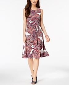 Charter Club Printed Midi Dress, Created for Macy's