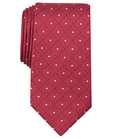 Perry Ellis Men's Vermett Grid Silk Tie