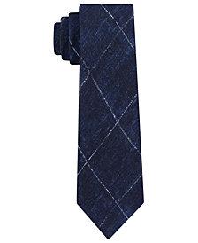 Michael Kors Men's Contrast Chalk Grid Slim Silk Tie