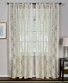 "Elrene Sheer Montego Burnout 52"" x 84"" Panel"