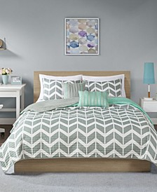 Nadia 5-Pc. Full/Queen Coverlet Set