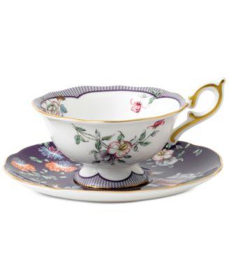 Wonderlust Midnight Crane Teacup & Saucer