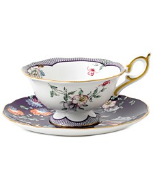 Wedgwood Wonderlust Midnight Crane Teacup & Saucer