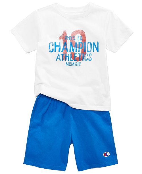 8021b8b84f8 Champion 2-Pc. Cotton T-Shirt   Shorts Set