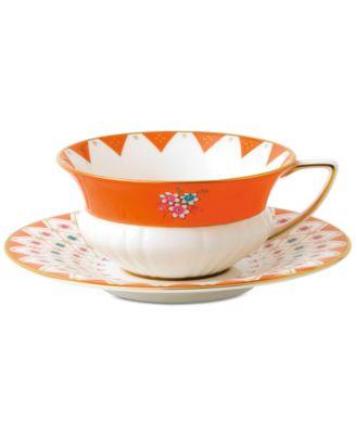 Wonderlust  Peony Diamond  Teacup & Saucer