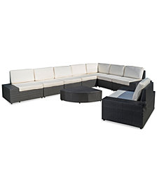 Ventana Outdoor 9-Pc. Sectional Set, Quick Ship